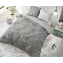 Twin Washed Cotton Gray 140 x 220 Gray