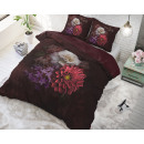 wholesale Home & Living: Elegant Flower Bordeaux 140 x 220 Bordeaux