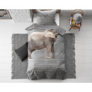 Goodnight Elephant Grey 140 x 200 Grau