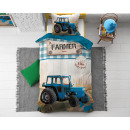 Tractor Life Blue 140 x 200 blue
