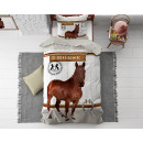 wholesale furniture: Horse Riding Brown 135 x 200 Brown