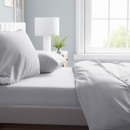 Bed Sheet flannel 150g. White 260 x 250 White