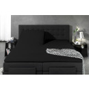 Split Topper Duo Fitted Sheet Black 180 x 200/220