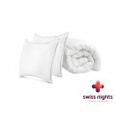 Pack 1 Duvert + 2 Pillows 240 x 220 White