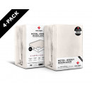 Fitted Sheet 4 pack Hotel Jersey Cream 140 x 200 C
