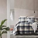 Bedspread Luxury Check Gray 260 x 250 Gray