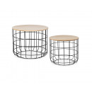 wholesale Small Furniture: Side tables Black Ø50 x H: 40 + Ø40 x H: 36 Black