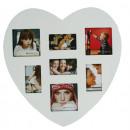 Großhandel Bilder & Rahmen: Bilderrahmen Herz  für 7 Bilder - 2478 SP