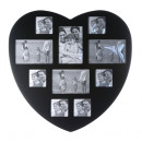 groothandel Foto's & lijsten: Hart zwarte  omlijsting - voor 10 foto's - 2457
