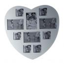 groothandel Foto's & lijsten: Fotolijst hart wit  - voor 10 foto's - 24578w