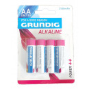 wholesale Batteries & Accumulators: Grundig 4pcs AA batteries R06. - NEW