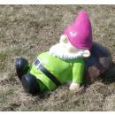 hurtownia Mieszkanie & Dekoracje: Dekofigur - Gnome  na Mushroom leżącego - zielony
