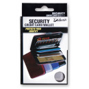 Credit card holder  aluminum - in stained cardboard