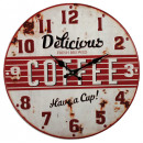 grossiste Horloges & Reveils: Horloge murale -  Métal - délicieux café II