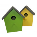 wholesale Garden & DIY store: Birdhouse  15x11x16,5 cm - 4ASS small - SP