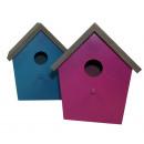 wholesale Garden & DIY store: Birdhouse  15x11x16,5 cm - 4ASS small - SP