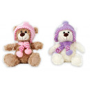 wholesale Dolls &Plush: Plush with scarf and hat - 25cm