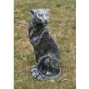 groothandel Figuren & beelden: Dekofigur -  Panters - Antiek zilver zitting