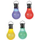 grossiste Articles de fête: ampoule en  plastique avec  cellule solaire et ...