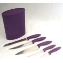 grossiste Jeux de Couteaux: Knife Set 6pc. - Avec bloc à couteaux