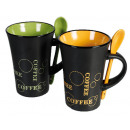 wholesale Cups & Mugs: Ceramic mug with spoon - 78/7979