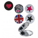groothandel Badmeubilair & accessoires: Pocket Mirror  Rhinestones - 76/3349