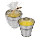 groothandel Kaarsen & standaards: Citronella Kaars in zink pot - 100068