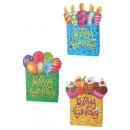 grossiste Emballage cadeau: Sac cadeau - Happy  Birthday - 18x8x24 - 180718