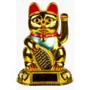 groothandel Figuren & beelden: Winkekatze -  golden mini - 57/9722