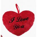 grossiste Articles Cadeaux: coeur en peluche -  Je t'aime - 10cm - 63/2113