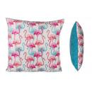 Großhandel Home & Living: Kissen mit vielen Flamingos - 190240