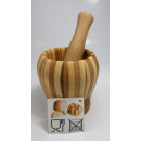 Garlic press bamboo