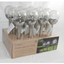 wholesale Garden & DIY store: Glass ball solar  stainless steel lamp NEW