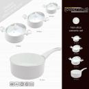 grossiste Verres: jeu de pot en  céramique, 7 pcs. - blanc - Lowentha