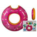 Großhandel Sport & Freizeit: Schwimmring - rosa Donut - 91/4176