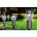 wholesale Garden & DIY store: Solar stainless steel lamp 6pcs