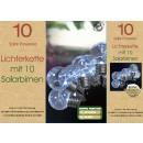 Großhandel Lichterketten: Solar Birne  Lichterkette Neu 10 Stck
