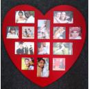 grossiste Images et cadres: Cadre photo - Coeur Rouge