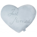 grossiste Articles Cadeaux: Peluche Coeur  Oreiller Just Married