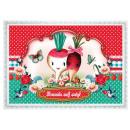 grossiste Cartes de vœux: Cotton Candy carte  postale, amis transversalement