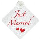 Bruiloft, verjaardag teken Just Married