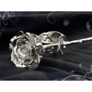 St. Leonhard  Versilberte True Rose with 999 silver