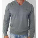 grossiste Vetement et accessoires: Ralph Lauren  V-Neck Pull en  maille gris Gr. ...
