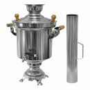 wholesale Kitchen Electrical Appliances: Stainless steel  charcoal samovar 5 liters with Sch