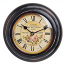 wholesale Home & Living: Antique Wall Clock HOME 18883 Roses