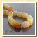 Großhandel Beads & Charms: Gelbe Jade Carving Fäden Foursquare