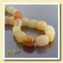 ingrosso Beads & Charms: Giallo fili  intaglio Jade Foursquare