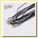 wholesale Jewelry & Watches: Black cord for pendant - 10 units