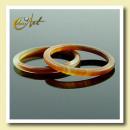 ingrosso Anelli: Sottile anello agata marrone