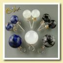 groothandel Oorbellen: Zilveren oorbellen  en hanger met mineralen